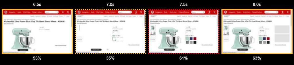 Target product image flash